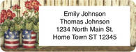 American Blossoms Return Address Label
