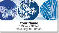 Blue Butterfly Nightfall Address Labels