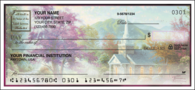 Churches by Thomas Kinkade Side Tear Personal Checks - 1 Box - Duplicates