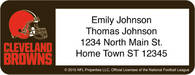 Cleveland Browns NFL Return Address Label