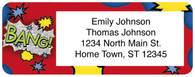 Comic Book Words Return Address Label