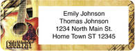 Country Music Return Address Label