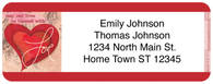 Full of Heart Return Address Label