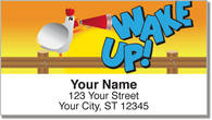 Funky Chicken Address Labels