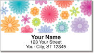 Geo Floral Address Labels