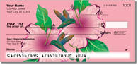 Click to see colorful illustrations of hummingbirds on unique checks from CheckAdvantage!
