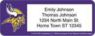 Minnesota Vikings NFL Return Address Label