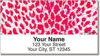 Neon Leopard Address Labels