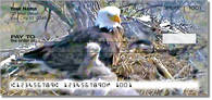 Click to see artistic images of a bald eagle family in their treetop home!