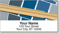 Paint Swatch Address Labels