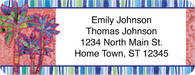 Palm Trees Return Address Label