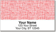 Pink Linen Address Labels