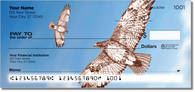 See illustrations of the regal red-tailed hawk on these checks featuring  birds of prey! Order now!