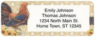 Roosters Return Address Label