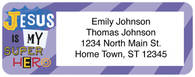 Super Powers Return Address Label