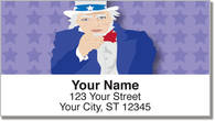 Uncle Sam & Friends Address Labels