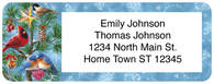 Winter Birds Return Address Label